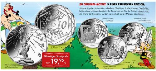 Euro Münzen Mit Asterix Motiv In Frankreich 2015 Asterix Asterix